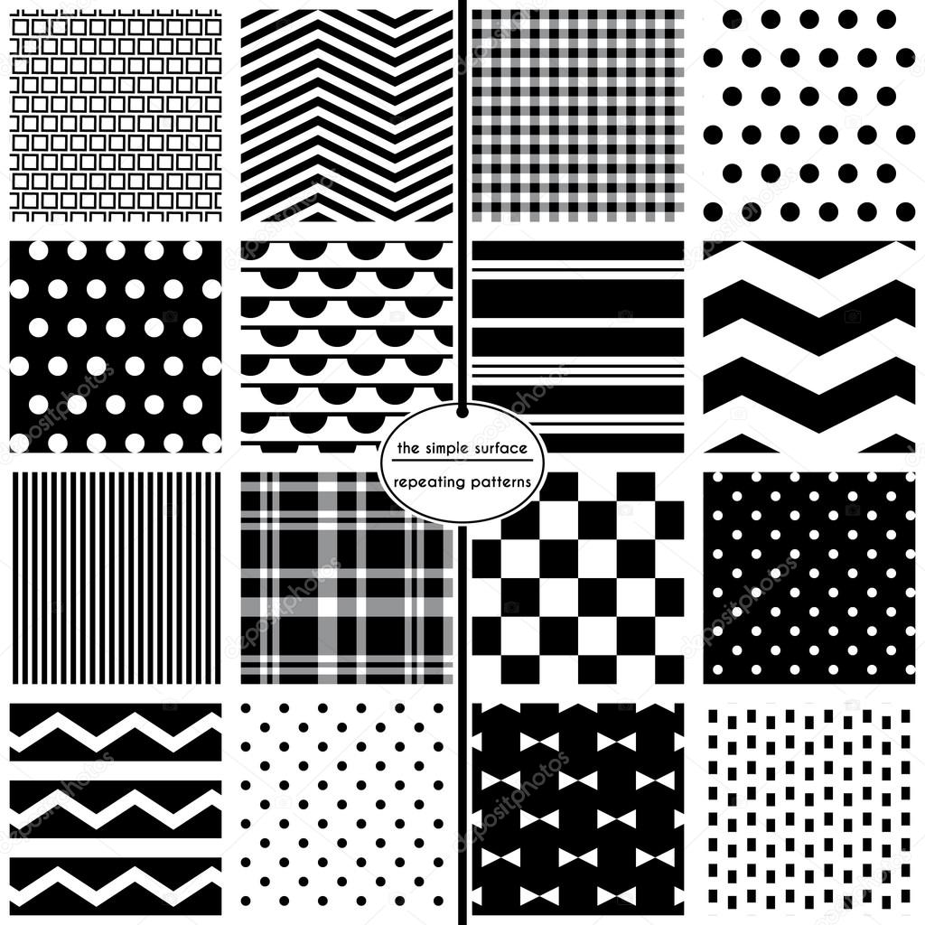 Black And White Scrapbooking Paper Black And White Seamless Patterns For Scrapbook Paper Fabric Cards Invitations Gift Wrap Backgrounds And More File Includes Polka Dots Chevrons Stripes Plaids Bow Ties And