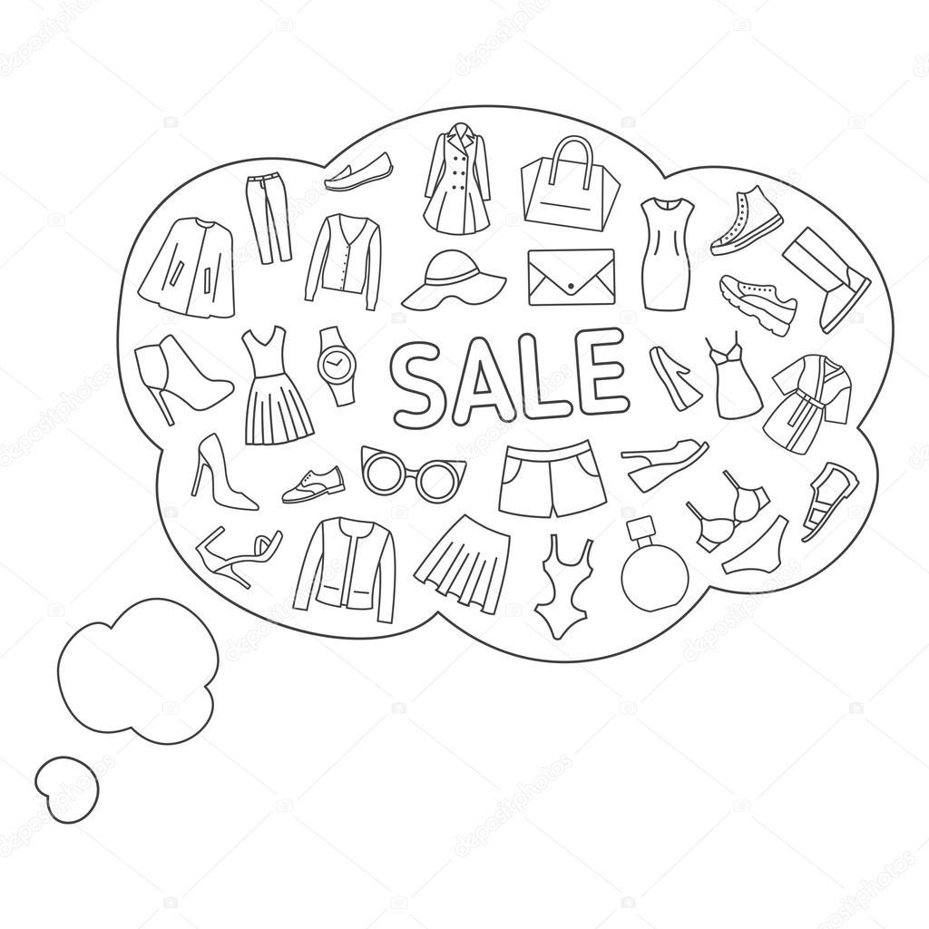 5ac57e092 Pensamientos acerca de la venta. Burbujas de pensamiento sobre compra
