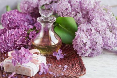 SPA concept: composition of spa treatment with natural sea salt,