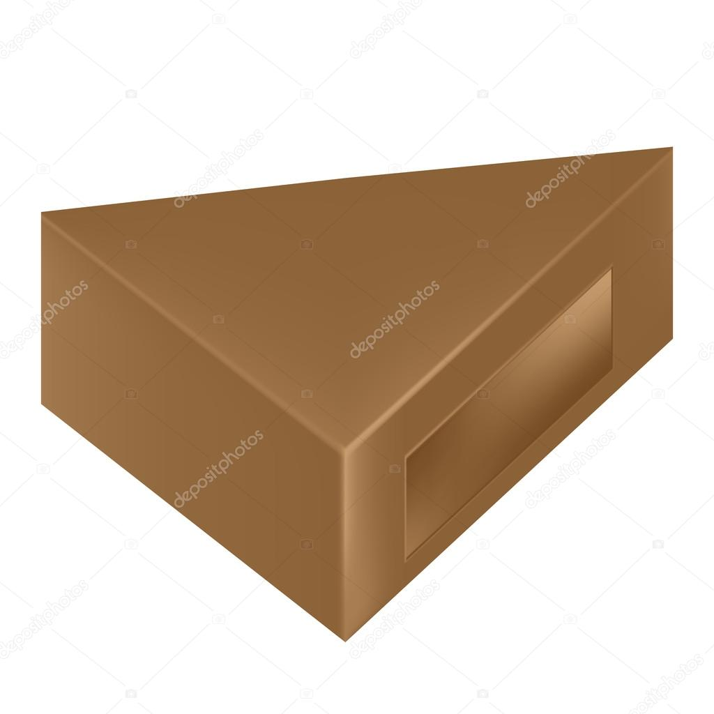 Vector Packaging Brown Triangle Packaging Box With Window On