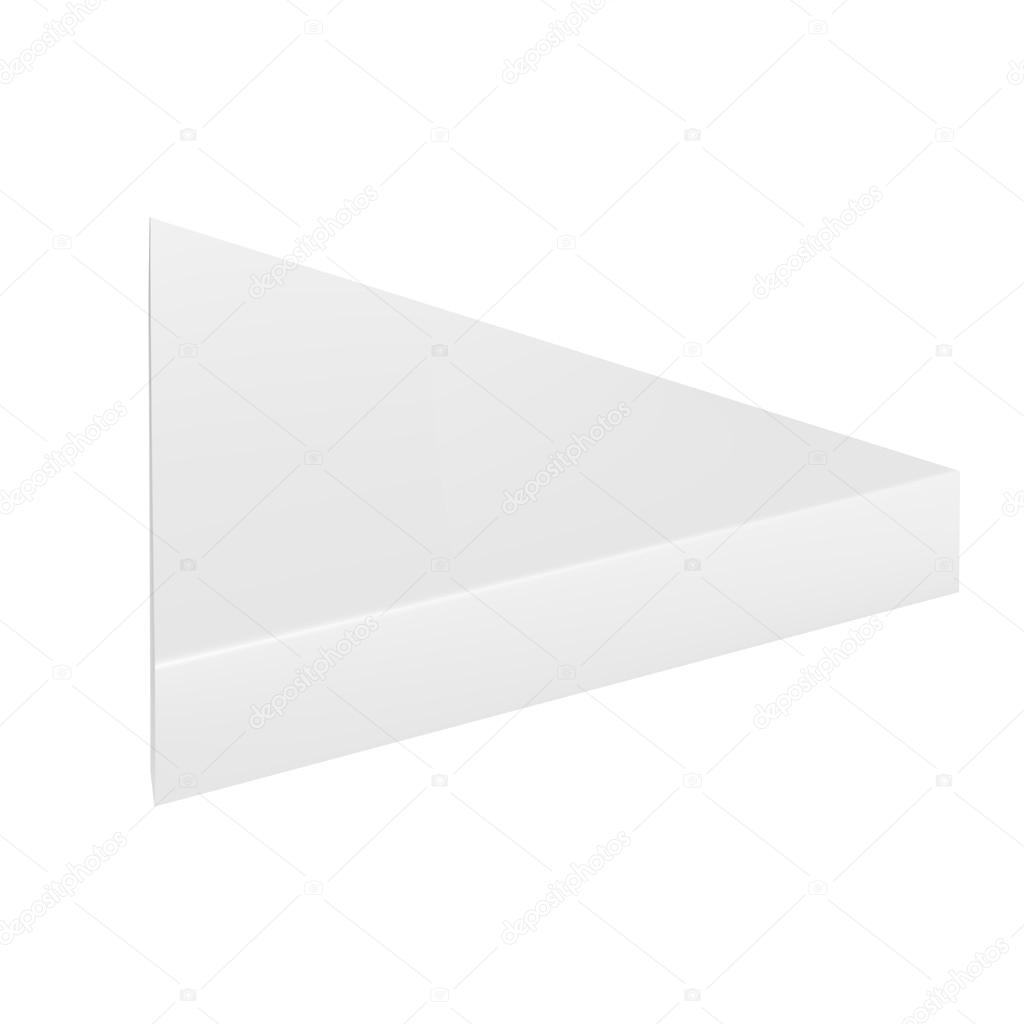 Vector packaging white gray thin triangle packaging box on isolated vector packaging white gray thin triangle packaging box on isolated white background mock up template ready for design vector de teentoinksail maxwellsz