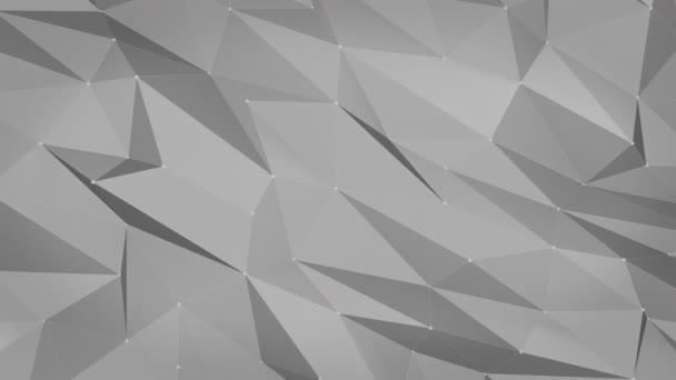Abstraktní pozadí šedé nízké poly. 4 k video pozadí 3d animace
