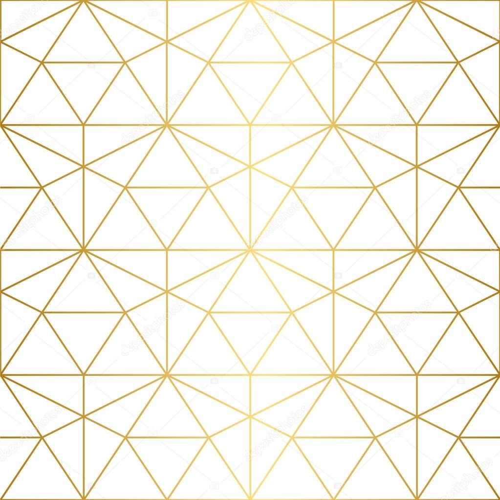 Golden Texture Seamless Geometric Pattern Stock Vector