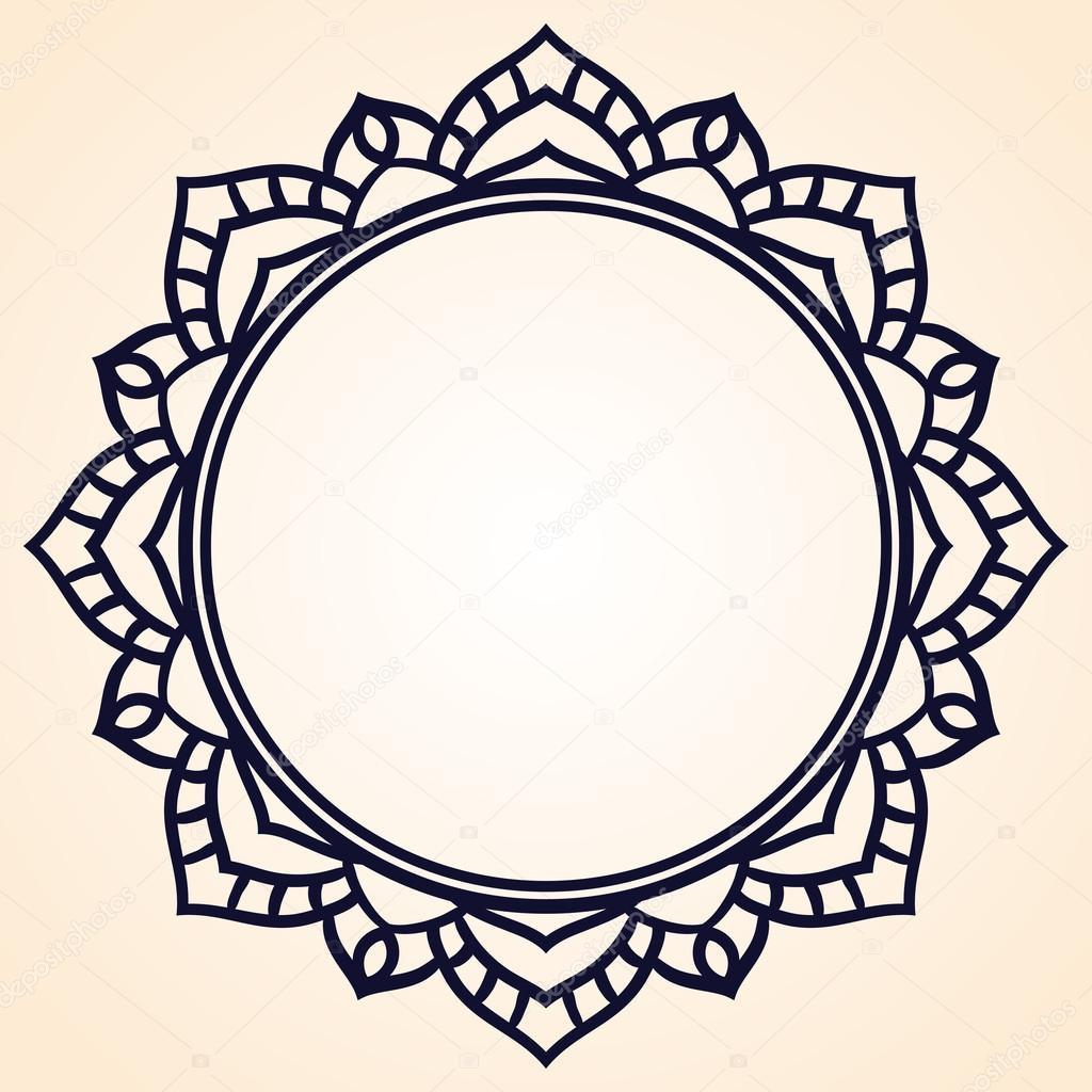 Marco de vectores en forma de un círculo. Elemento recargado para el ...