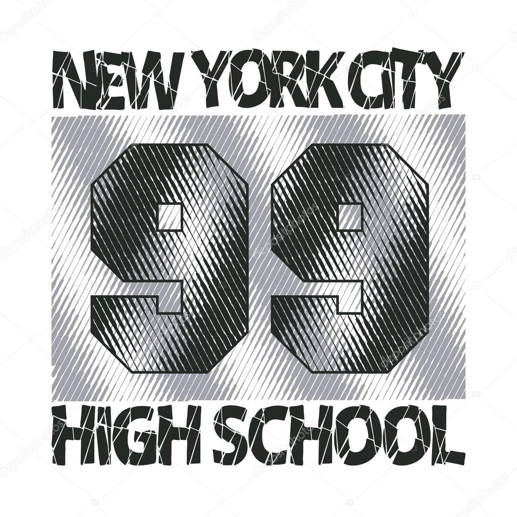 New York typography, design graphic