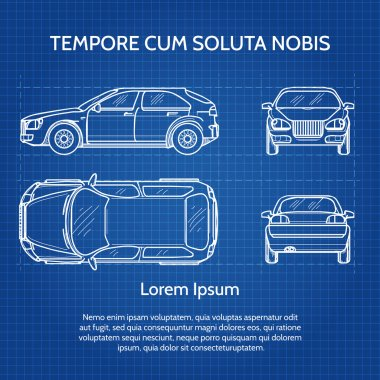 Car vector blueprint