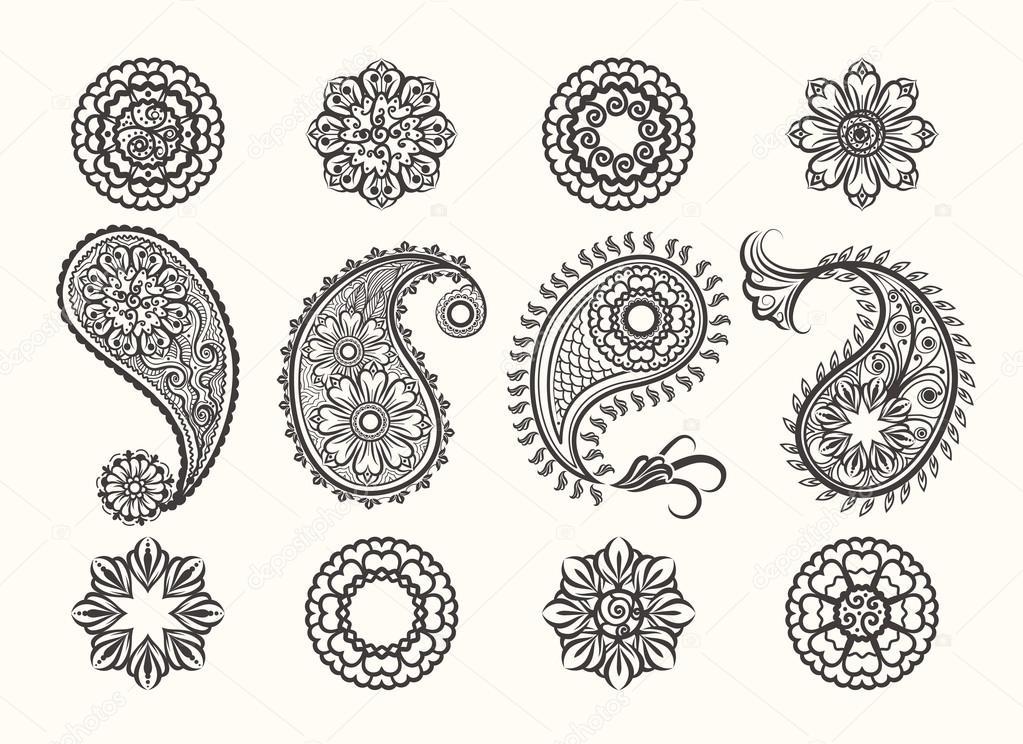 Henna Tattoo Vector: Stock Vector © Vectortatu
