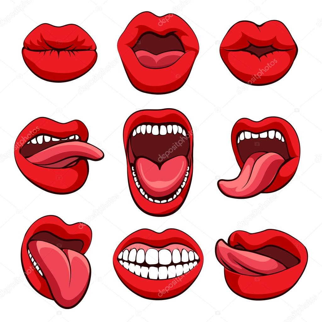 Mouths expressions set