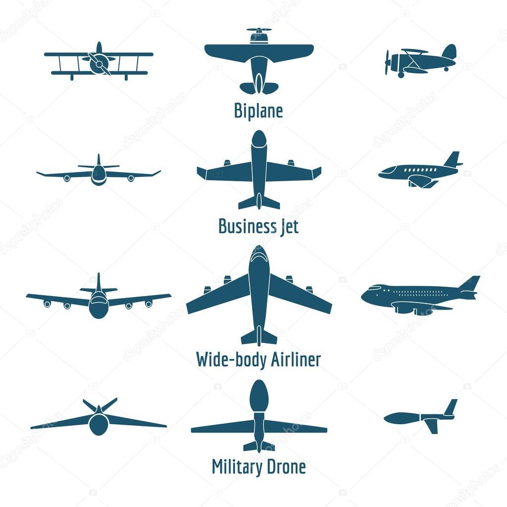 Tipos De Aviones Diferentes Archivo Im 225 Genes Vectoriales