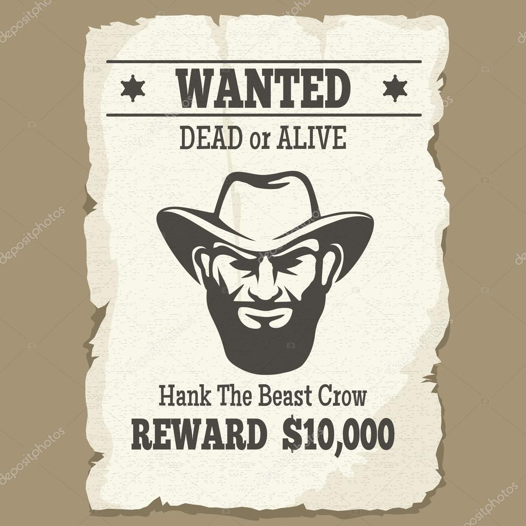 Wanted Poster Template Stock Vectors Royalty Free Wanted Poster