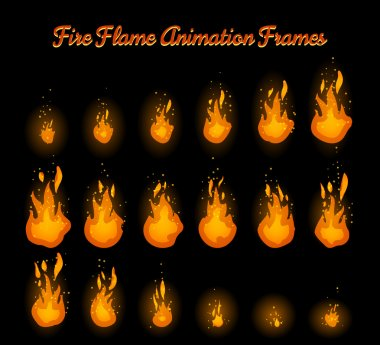 Fire flame animation for fire trap