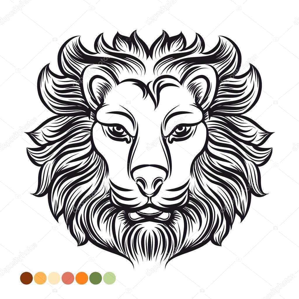Página para colorear de leones salvajes — Vector de stock ...