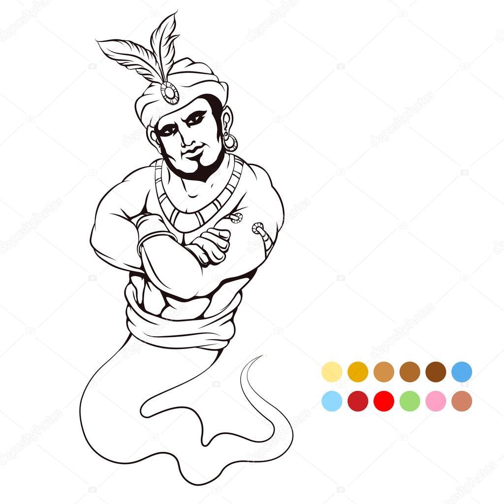 Malvorlagen mit genie — Stockvektor © vectortatu #115823342