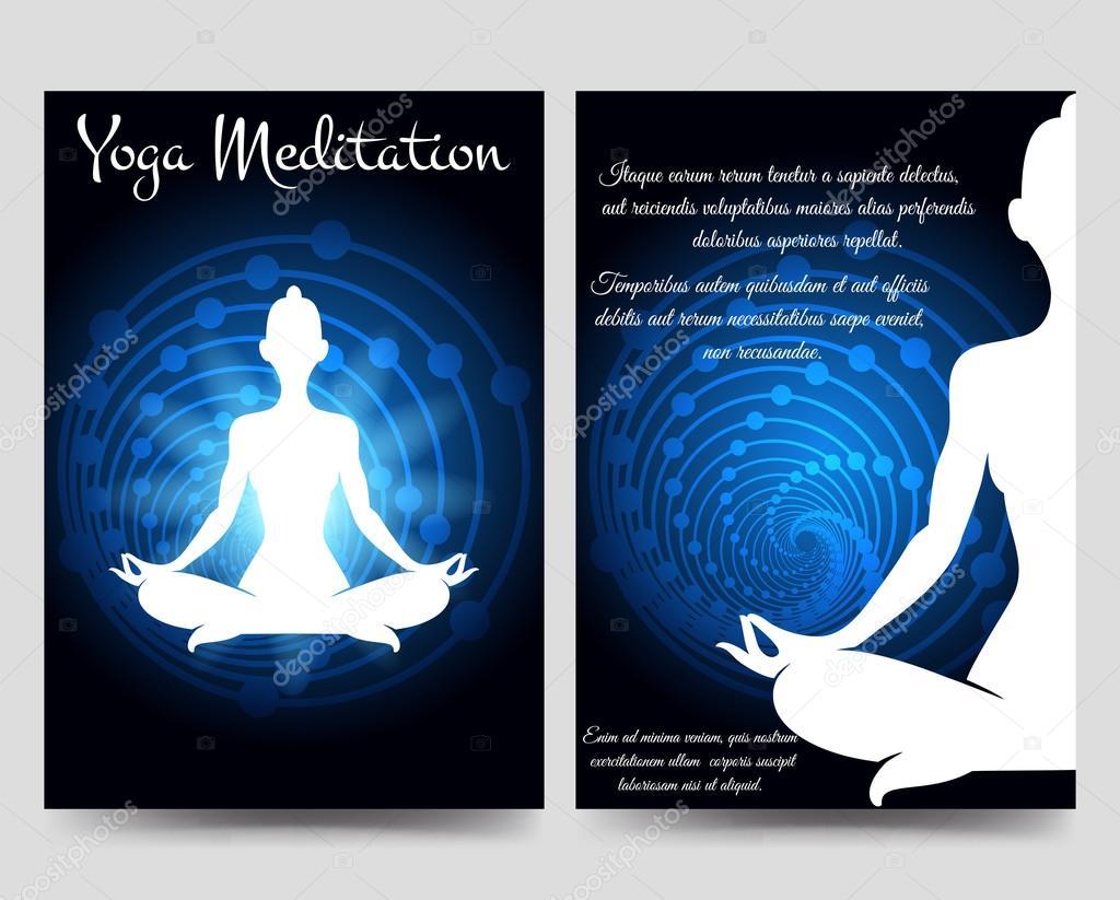 Yoga brochure flyers template — Stock Vector © vectortatu #120458600