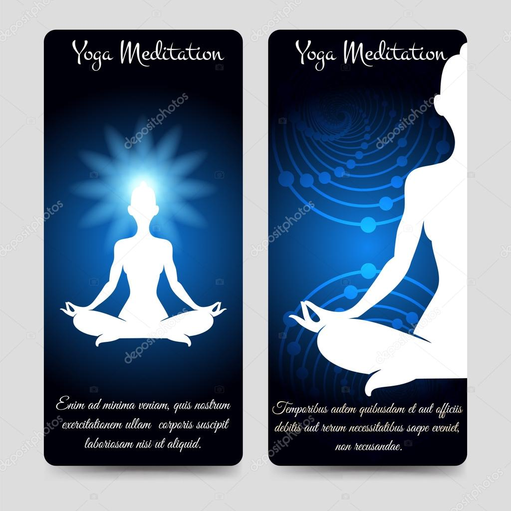 Yoga-Meditation-Broschüre-Flyer-Vorlage — Stockvektor © vectortatu ...