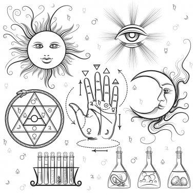Esoteric signs vector symbols