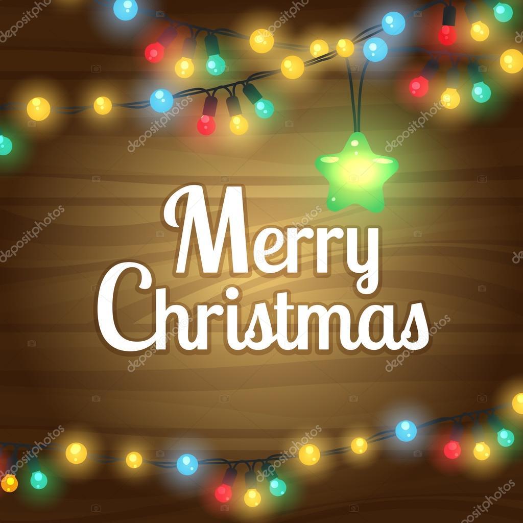 Luces de Navidad marco de la frontera — Archivo Imágenes Vectoriales ...