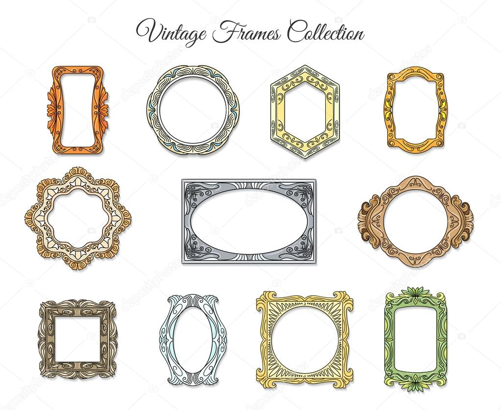 Marcos clásicos vintage — Archivo Imágenes Vectoriales © vectortatu ...
