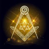 Fotografie Freemasony sign on shining background