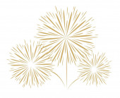 Holidays fireworks on white background