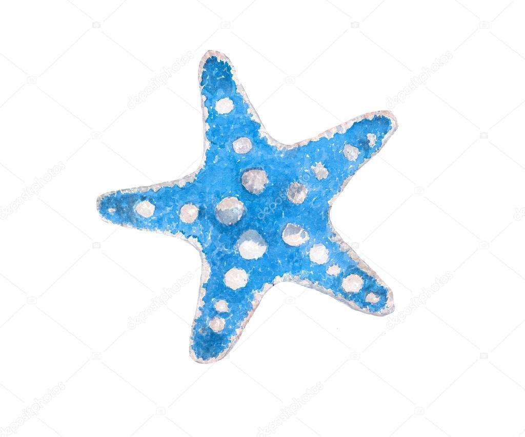 青い水彩 seastar ストックベクター lecoqdesigns gmail com 111121604