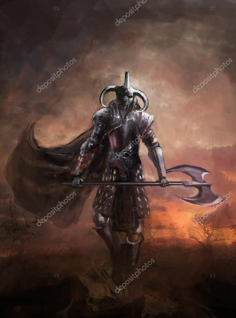 Warlord The Mighty Demon Knight Stock Photo Vukkostic91 105665348