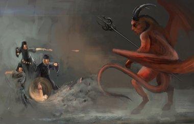 good vs evil, parody, Christians vs Satan