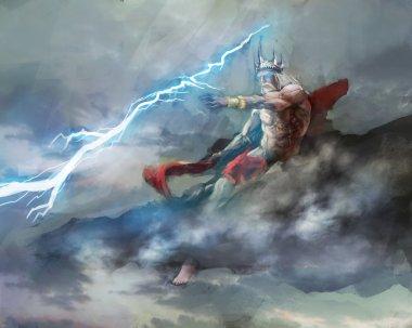 Zeus king of Greek gods