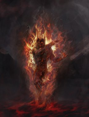 Terror of flame and darkness