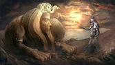 Fényképek egyiptomi Szfinx és Thot Isten