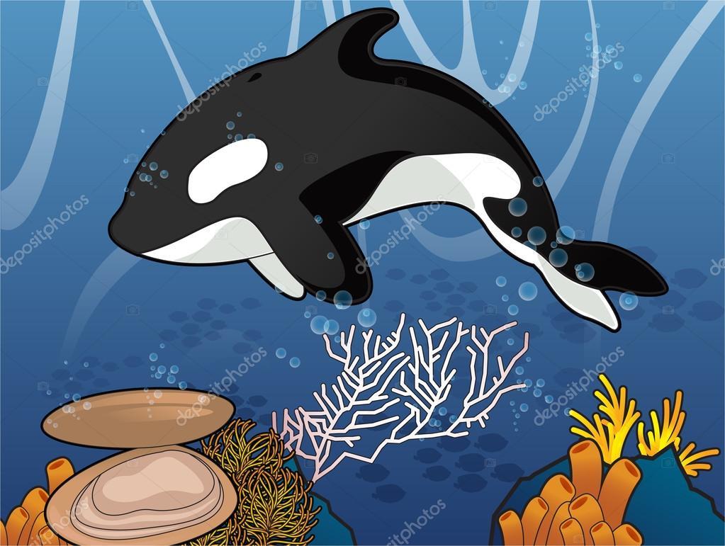 Killer Whale Under the Sea