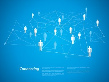 Connecting people concept, vector illustration stock vector