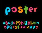 Photo 3D stylized playful alphabet