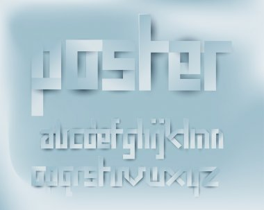 paper cut font type