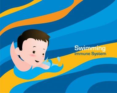 little Kid Swimming