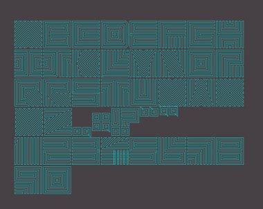 maze green font