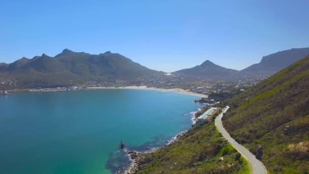 Hout Bay Mountain Pass 4k Uhd letecké záběry z Chapmans Peak Drive. Kapské město Jihoafrická republika. Část 1 ze 3
