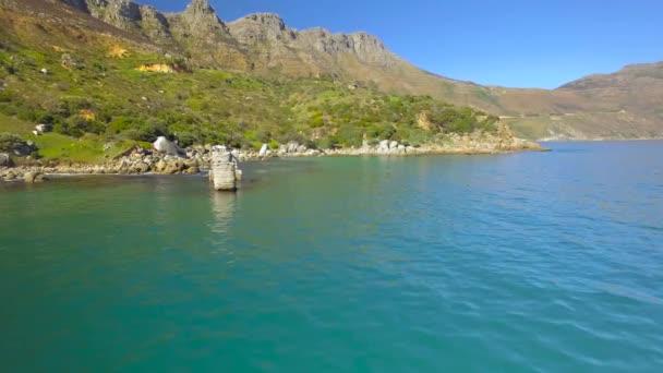 Chapmans Peak Drive 4k Uhd letecké záběry pobřeží poloostrova. Kapské město Jihoafrická republika. Část 1 ze 3