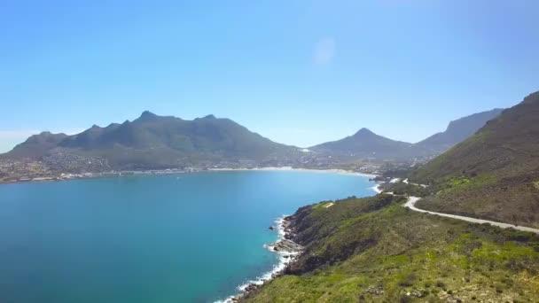 Hout Bay Mountain Pass 4k Uhd letecké záběry z Chapmans Peak Drive. Kapské město Jihoafrická republika