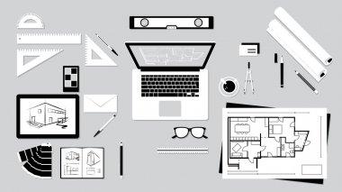 Architect and designer desk