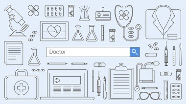 Professional doctor and healthcare banner