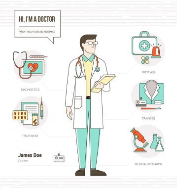 Professional doctor infographic