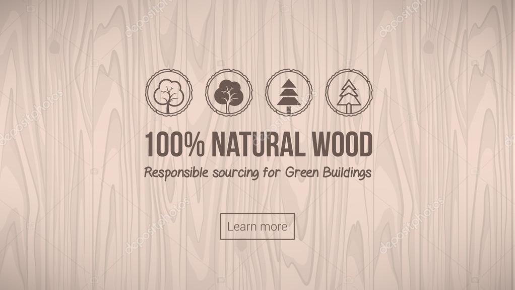 Natural wood banner