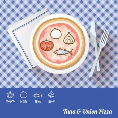 Tuna & onion pizza