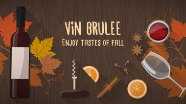 Vin brulee or mulled wine banner