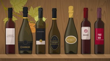 Collection of luxury wine bottles