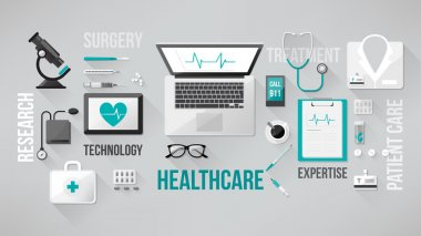 Healthcare and medical research banner