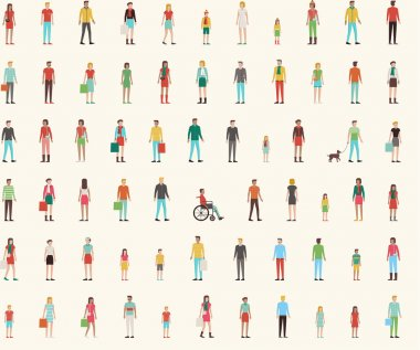 People seamless pattern