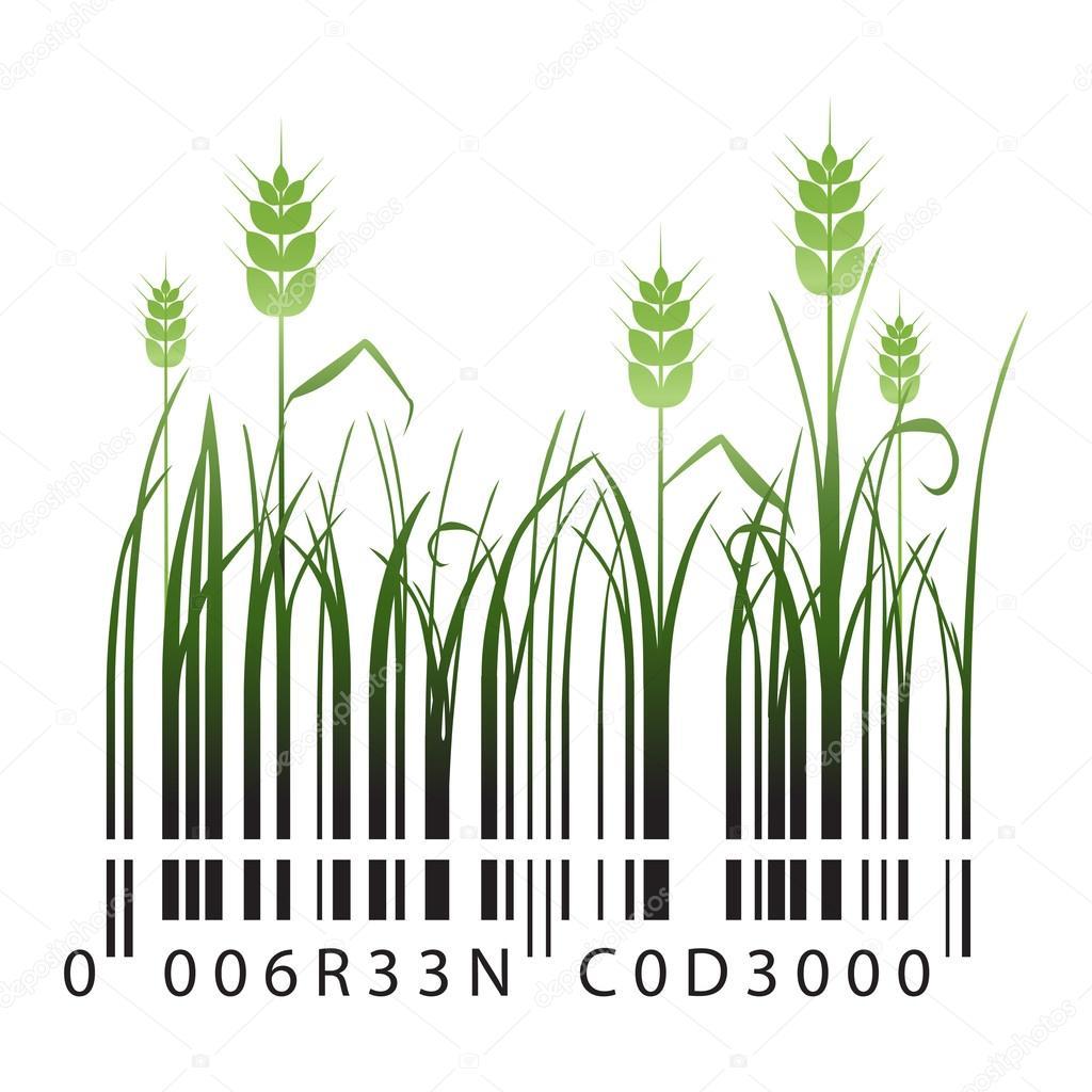 Organic green barcode