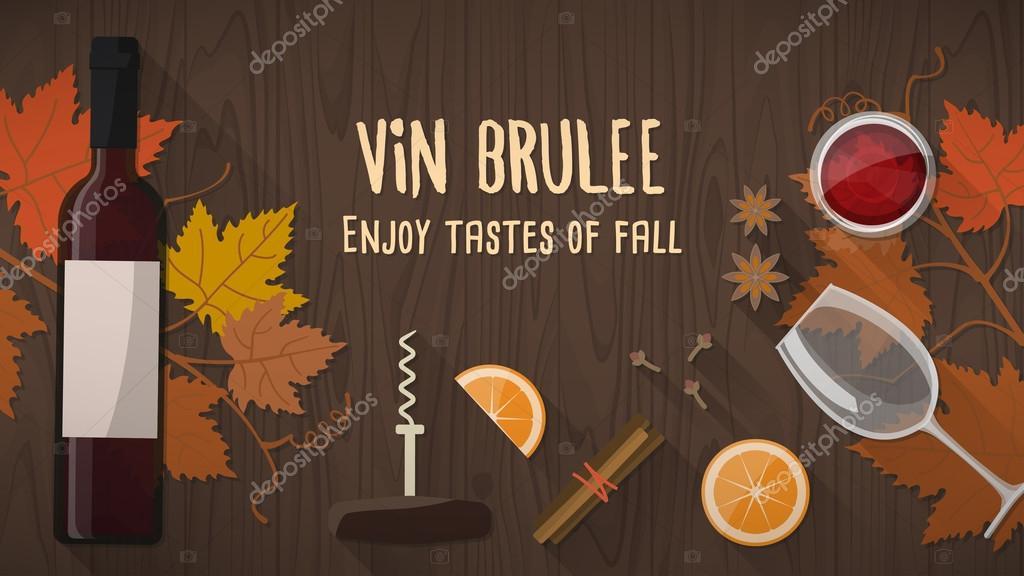 Vin brulee or mulled wine banner